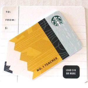 Starbucks 2020 Pencil Die Cut Card NO VALUE